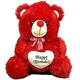 GARG 24 Inch Birthday Heart Stuffed Soft Teddy Bear - Red