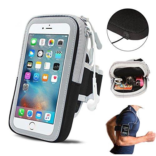 Handy Schutz Hülle Tasche |für Switel Cute S3510D| Sportarmband zum Laufen, Joggen, Radfahren | Schwarz Arm Band