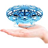 Fansteck Mini Drône UFO drône USB rechargebale, Avion Interactive Infrarouge Induction Hélicoptère Capteurs à 360° rotaion contrôlée à la Main avec Lumière LED Jouet pour Les Enfants et Adultes
