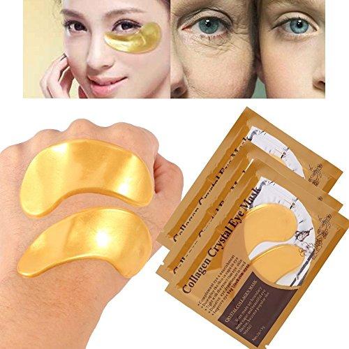 25 Paar Kollagen Augenpads,Die Feuchtigkeit spendende Anti Falten Augenmaske gegen Augenringe & Fältchen Anti Aging