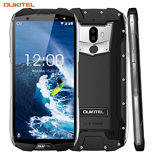 Outdoor Smartphone, OUKITEL WP5000 5,7 Zoll Display, Android 7.1 Handy ohne Vertrag, Dual Sim Handy, IP68 Wasserdicht Stoßfest Staubdicht, 6GB+64GB, Helio P25 Octa Core,Mobiltelefon 4G,5200mAh-Schwarz