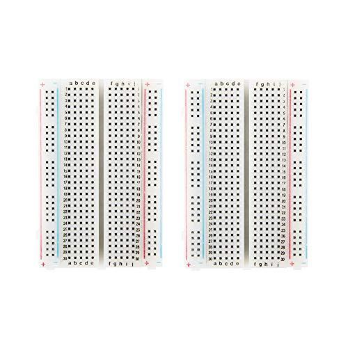 Jolicobo Breadboard Prototype PCB Board, 400 Tie-Points Breadboard, 4 Power Rails per Arduino Jumper Wire per Uno R3 Mega 2560 Nano