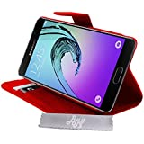 Etui Housse Luxe Rouge Stand et Portefeuille Samsung Galaxy A3 (2016) SM-A310F + STYLET et 3 FILM OFFERT!!