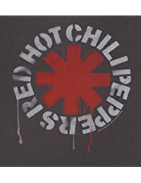 T shirt homme pochoir Red Hot Chili Peppers de Amplified gris ardoise