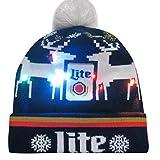 Oliviavan Strickmütze Hut Kinder LED Beleuchtet LED Taschenlampen Schwarz Hüte Snapback Mütze Sonnenschutz weihnachtsmütze Beanie Wollmütze