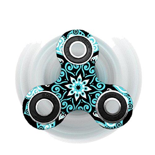 Preisvergleich Produktbild Handspinner, Lanspo Fidget Spinner Dreieck Einzelfinger Dekompression Gyro Hand Spinner Fingerspitze Gyro 6 Farbe erhältlich (C)