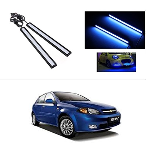 AutoStark Daytime Running Lights Cob LED DRL (Blue) Chevrolet Optra SRV  available at amazon for Rs.249
