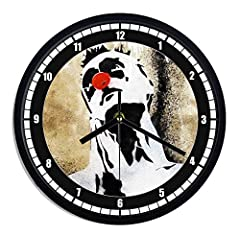 Idea Regalo - Orologio da parete in plastica Dark clown naso rosso