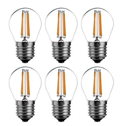 6-Pack G45 a filamento LED Mini Globe Lampadina - A15 stile, bianco caldo, dimmerabile 4 W, equivalente a 40 W, attacco medio E27 vite Base Lampadina 2700 K, UL listd yt-g45 - 7 - Accensione Housing Assembly
