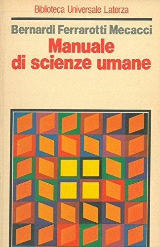 Manuale di scienze umane