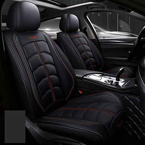 Hinten 5 Seat Full Set Universal Leder Four Seasons Pad Kompatibel Airbag Seat Protectors Wasserdicht. (Farbe : Schwarz) ()