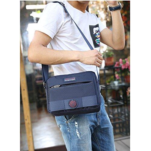 Outreo Borsa Uomo Borsa Tracolla Vintage Messenger Bag Borse a Spalla Viaggio Borsello Sport Sacchetto Borsetta per Tablet Blu