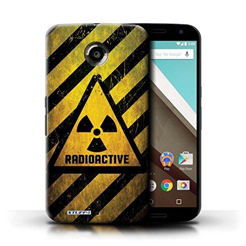 Kobalt® Imprimé Etui / Coque pour Motorola Nexus 6 / Bombe Atomique conception / Série Signes de Danger Radiation
