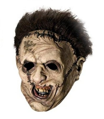 Rubies Costume Co 4177 Leatherface Deluxe Adult Overhead-Maske mit (Masken Leatherface)