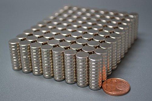 100 Neodym-Supermagnete 8 x 2 mm