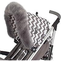 My Babiie Universal-Kinderwagen mit Kapuze aus Fell, Grau
