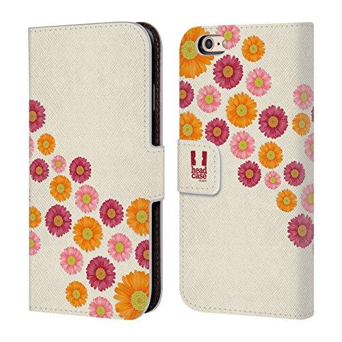 Head Case Designs Remplir Marguerite - Motifs Étui Coque De Livre En Cuir Pour Apple iPhone 5 / 5s / SE Mouche