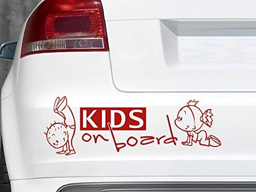 GRAZDesign 745025_10_010G Auto-Aufkleber Baby fürs Auto Spruch Kids on Board Mädchen | Geschenk zur Geburt - Heckscheiben-Aufkleber (30x10cm//010 weiß)