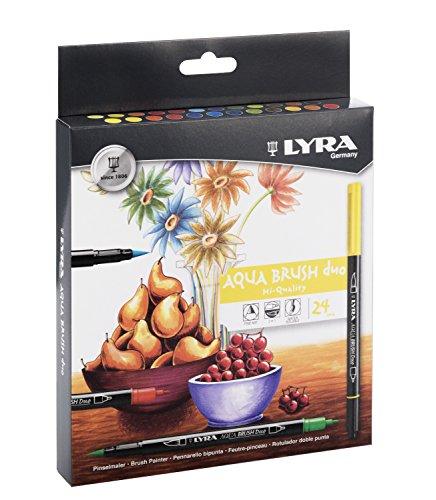 lyra-aqua-brush-duo-estuche-24-rotuladores-artisticos-de-colores-tinta-acuarelable-y-doble-punta-est