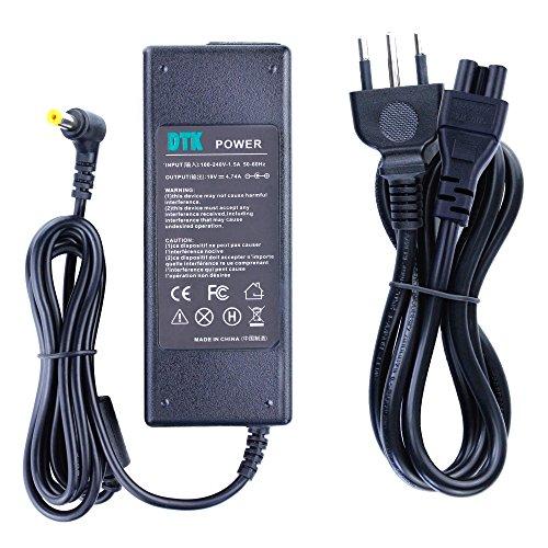 Dtk Caricatore Notebook Adattatore PC Portatile Alimentatore per Acer Aspire Output: 19V 4.74A 90W (75W 65W Compatible) Caricatori alimentatori Caricabatterie Connettore: 5.5X1.7MM