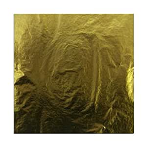 Blattgold Schlagmetall (Imit.) 25 Blatt - Format 14 x 14 cm artmaxx