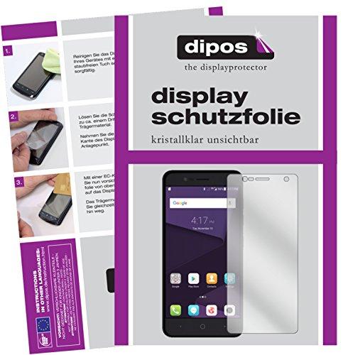 dipos I 2X Schutzfolie klar passend für ZTE Blade V8 Mini Folie Bildschirmschutzfolie