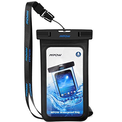 Custodia impermeabile con fascia da braccio, Mpow IPX8impermeabile subacquea del sacchetto asciutto con borsa da braccio a tenuta stagna innocuo PVC & ABS Construction sacchetto per iphone7,6,5, HTC, LG, Sony, Nokia