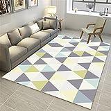 CHAI Wohnzimmer Dekoration Teppich 3D Färben Bodenmatte Nordic Einfachen Stil Geometrische Muster Rechteckigen Teppich Schlafzimmer Rutschfeste Teppich Kinderteppich Teppich Teppiche