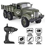 GotechoD RC Ferngesteuerte Militärfahrzeuge, RC Militär Truck 2.4Ghz 1/16 6WD mit Fernbedienung als Geschenke für Kinder Jungen Erwachsene