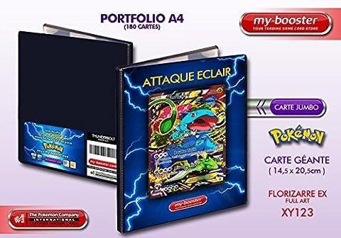 Portfolio Pokemon FLORIZARRE EX FULL ART XY123 180PV XY11 - Rangement 180 cartes - Format A4