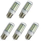 Aoxdi 5x E27 LED Birne 8W, Kaltweiß, E27 LED Leuchtmittel LED Energiesparlampe LED Glühbirne Lampe, 56 SMD 5730 LED, AC220-240V