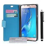 zStarLn® blau Hülle Leder Tasche für Samsung Galaxy J7