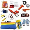 JJOnlineStore–Auto Sicherheit Notfall Kit EU Fahrzeug Repair Essentials Reise Werkzeug Aufbewahrungstasche, Warndreieck, Erste Hilfe Set