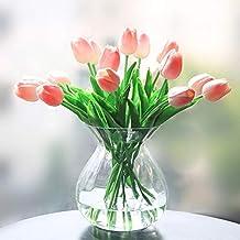 a35866f0aed9 Veryhome Fiore Artificiale Fiore Finto Tulipano Materiale in Lattice Vero  Tocco Matrimonio Stanza Famiglia Alberghi Festa