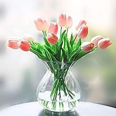 Idea Regalo - Veryhome Fiore Artificiale Fiore Finto Tulipano Materiale in Lattice Vero Tocco Matrimonio Stanza Famiglia Alberghi Festa DIY al operto Decorazione