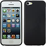 PhoneNatic Coque en Silicone pour Apple iPhone 5c - Mate Noir - Cover Cubierta +...