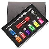 Anjuley 10 Stück/Set unsichtbare Fluoreszenz Bottled Signature Pen Ink with Glass Fountain Dip Writing Pen Art Supplies Gifts