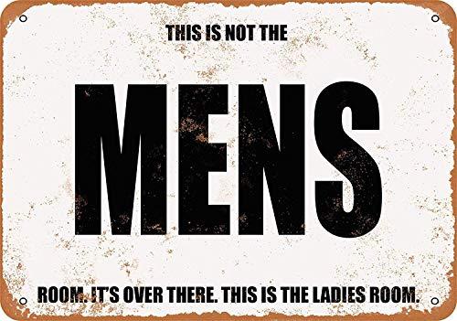 OURTrade 8 x 12 Metal Sign - Funny Deceptive Men's Room (Ladies Room) - Vintage Look