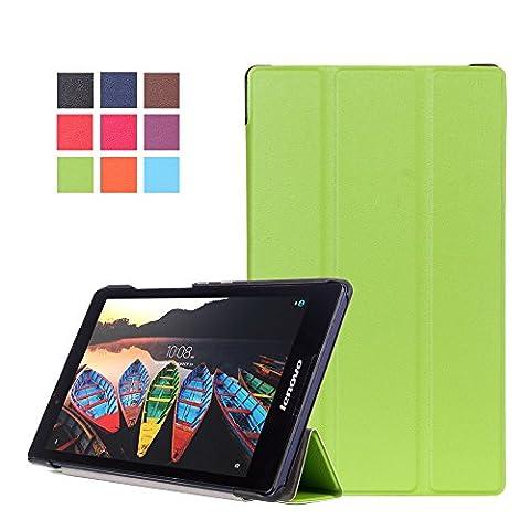 WindTeco Lenovo Tab3 8 / Tab 2 A8-50 Hülle - Ultra Dünn und Leicht PU Leder Schutzhülle mit Standfunktion für Lenovo Tab 3 8 (TB3-850F / TB3-850M) / Tab 2 A8-50 8,0 Zoll Tablet,