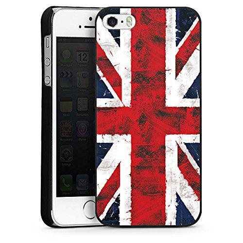 Apple iPhone 5 Housse Outdoor Étui militaire Coque Grande-Bretagne Drapeau Union Jack - Grunge CasDur noir