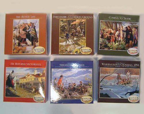 set-of-6-john-buxtons-historical-colonial-times-jigsaw-puzzles-by-john-buxton