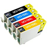 UCI 4x Epson 18XL Cartouches d'encre compatible avec Epson Expression Home XP-102, XP-202, XP-205, XP-212, XP-215, XP-225, XP-30, XP-33, XP-302, XP-305, XP-312, XP-315, XP-322, XP-325, XP-402, XP-405, XP-405WH, XP-412, XP-415, XP-422, XP-425