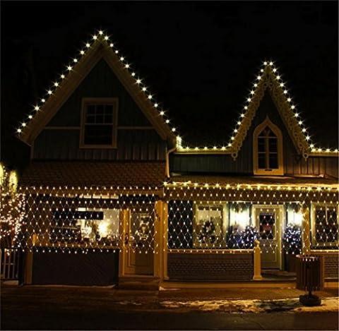 LUCKY CLOVER-A Christmas String net Lights 13 ft 670 LED Fairy String Light Xmas Tree Wedding Home Garten Xmas Party Valentinstag Halloween Dekor Nacht Licht , warm (Warm Weiß Led Weihnachten Tree)
