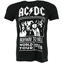 AC/DC Highway to Hell World Tour 1979/1980 T-shirt Black Official Licensed Music