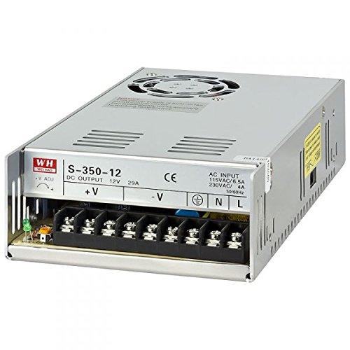 NuNus Netzteil Trafo Schaltnetzteil - 12V 30A 350W für 3D Drucker , LED Beleuchtung Stripes , Industrieanlagen, Überwachungskameras uvm...
