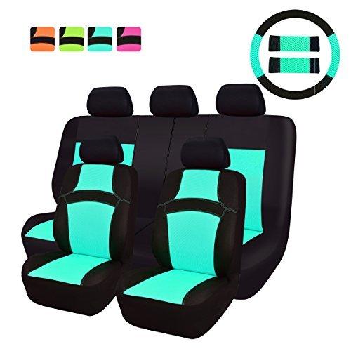 CAR PASS REGENBOGEN Passform Universal Auto Sitzbezug-100% Atmungsaktiv mit Airbag System