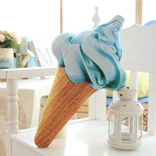 "sunnymi 3D Bett Kissen \""Eis Kissen\"" sunnymi Sofa Kopfkissen,Bettwäsche Art Ice cream Schlafsofa Babybett (A, 68cm)"