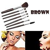Make-Up-Pinsel,7Er-Pack Professionelle Make-Up-Pinsel Make-Up-Pinsel Lidschatten-Pinsel Mit Eyeliner