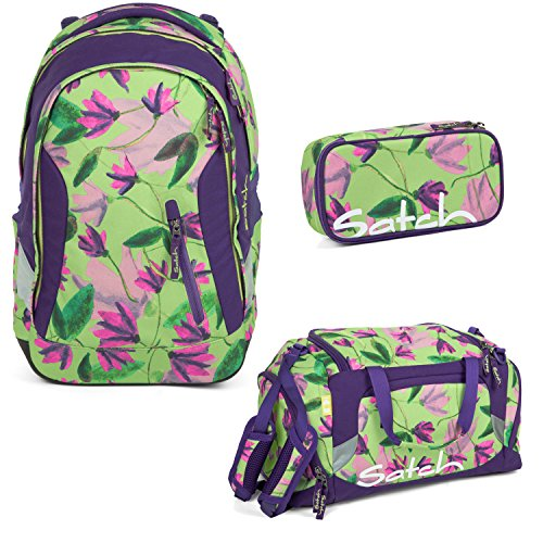 Satch Sleek - 3tlg. Set Schulrucksack - Ivy Blossom (Tasche Blossom)