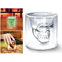 4x Verre Alcool Tete Mort Head Shot Skull Crystal Glass Crane Cristal Coupe vodka verrerie